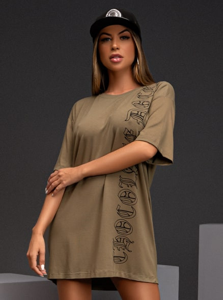 T-SHIRT DRESS CHOCOLATE DOCE PIETRA VERDE