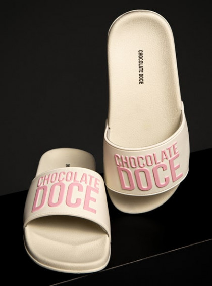 CHINELO CHOCOLATE DOCE SLIDE OFF WHITE
