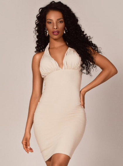 VESTIDO CHOCOLATE DOCE MIDI ALEXIA OFF WHITE